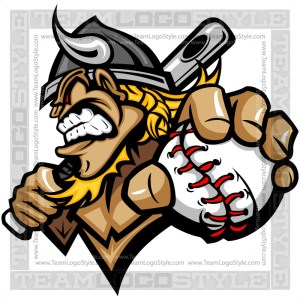 Viking Baseball Logo