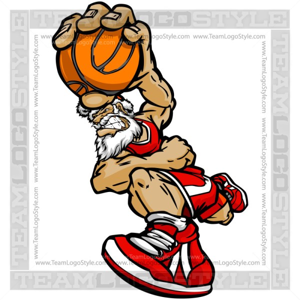 Basketball Santa Clip Art