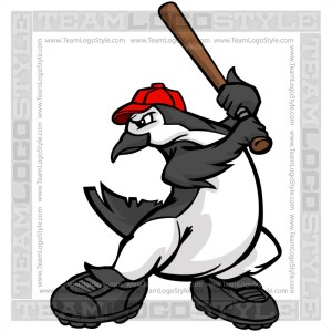 Penguin Hitting Baseball