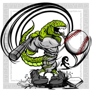 Lizard Baseball Logo