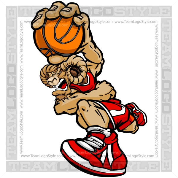 Basketball Bighorn Cartoon