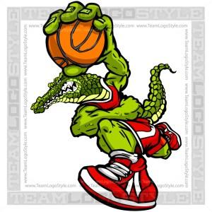 Basketball Gator Cartoon