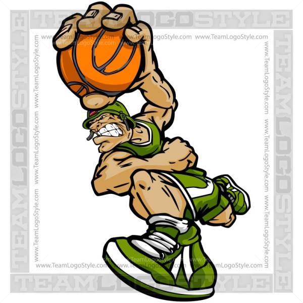 Basketball Soldier Cartoon