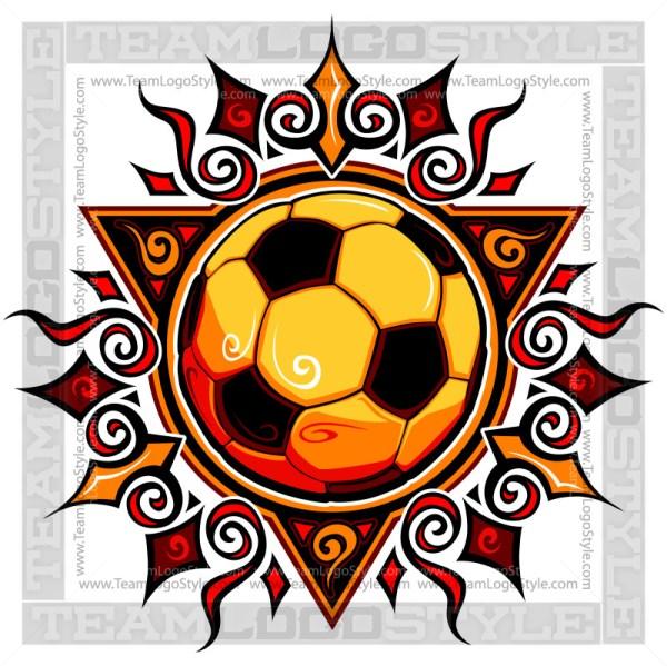 Graphic Soccer Sun