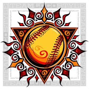 Graphic Softball Sun