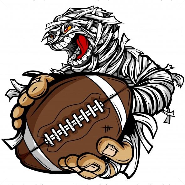 Halloween Football Clip Art