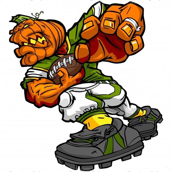 Halloween Football Pumpkin
