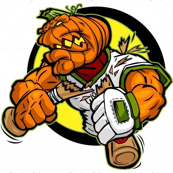 Pumpkin Baseball Logo