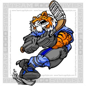 Tiger Hockey Player