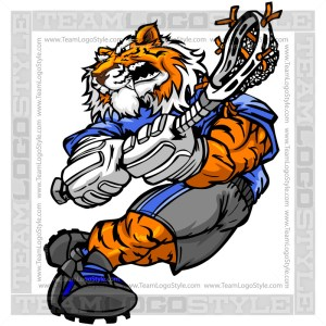 Tiger Lacrosse Player