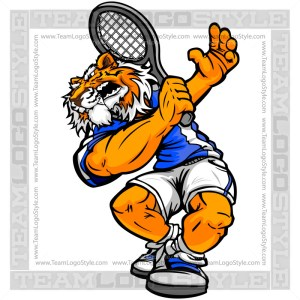 Tiger Tennis Player