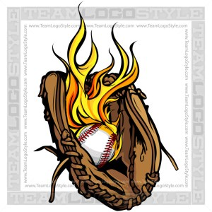 Flaming Baseball Logo