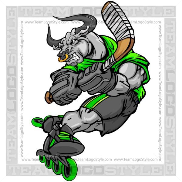 Bull Roller Hockey Player