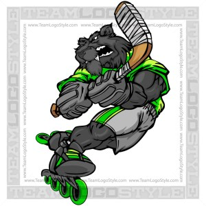 Panther Roller Hockey Player