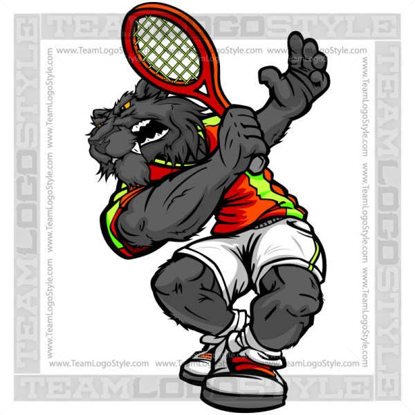 Panther Tennis Player