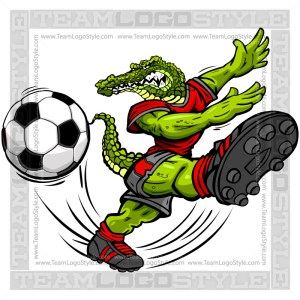Soccer Gator Cartoon