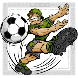 Soccer Soldier Cartoon