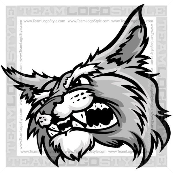 Cartoon Wildcat Head