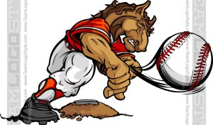 Bronco Baseball Clipart