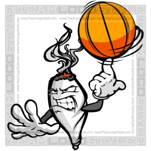 Basketball Marijuana Joint Character