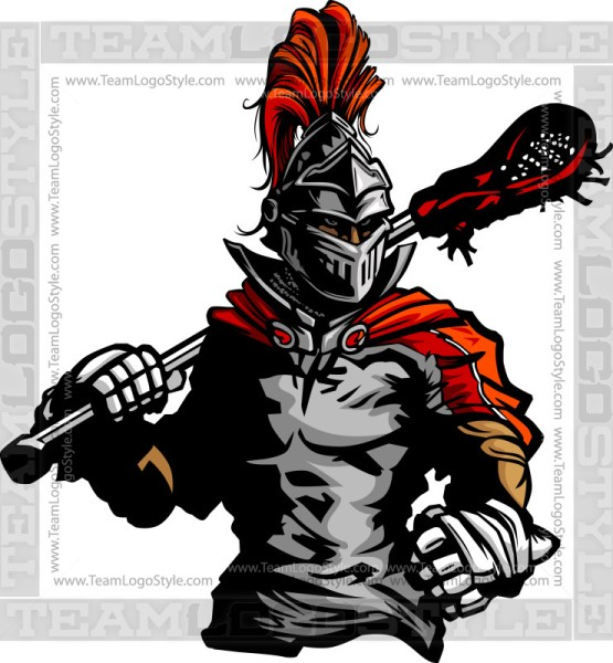 Knight Lacrosse Clipart