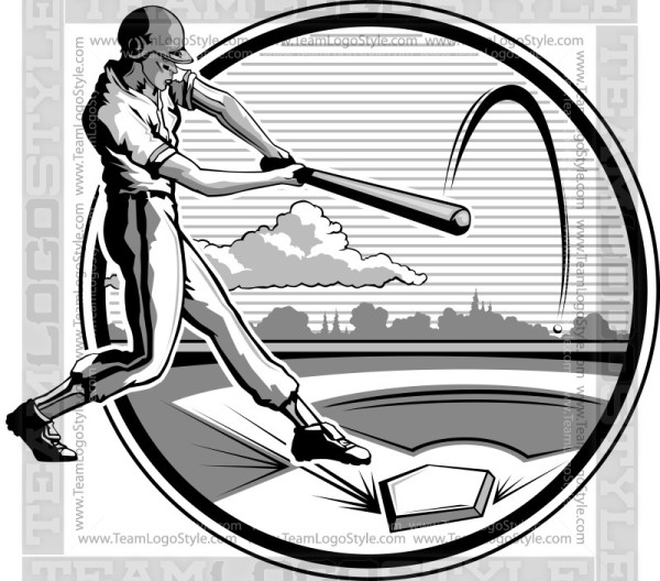Retro Baseball Clipart