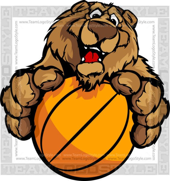 Bear Basketball Cartoon