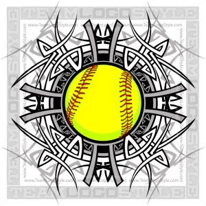Softball Graphic
