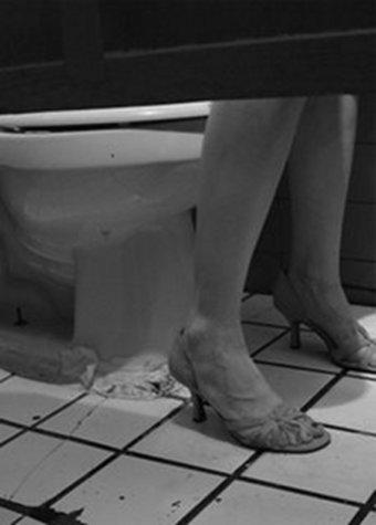 girls pissing in toilet