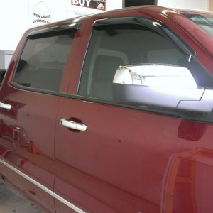 2015 Silverado vent visors bed rails window tint