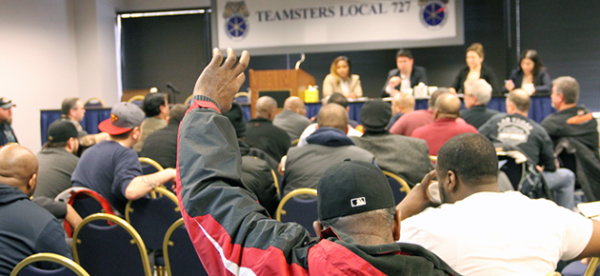 Pepsi members attended a contract demands meeting with Local 727 representatives Feb. 7.