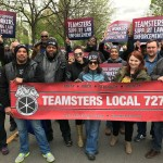 Local 727 Marches for Workers' Rights on May Day, 2017