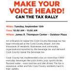 Make Your Voice Heard: Can the Tax Rally Sept. 12!
