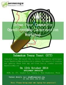 Urban Poor Community OpenStreetMap Intervention Workshop