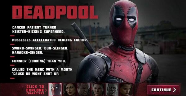 Deadpool - Ryan Reynolds as Wade Wilson  Deadpool
