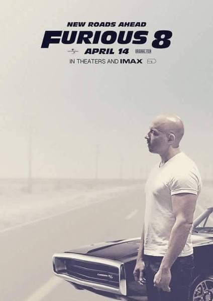 Furious 8 Movie Poster - Vin Diesel