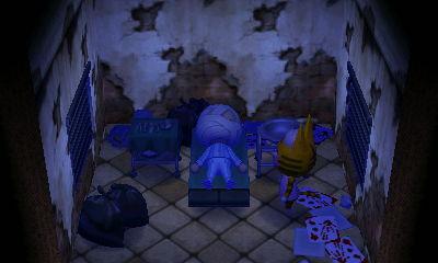怖い寝室 どうぶつの森ハッピーホームデザイナー