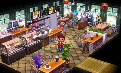 飲食店 どうぶつの森ハッピーホームデザイナー