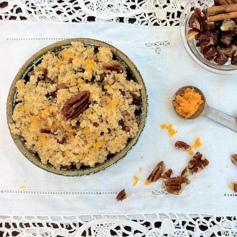 Pecan Date Breakfast Couscous - The Recipe ReDux