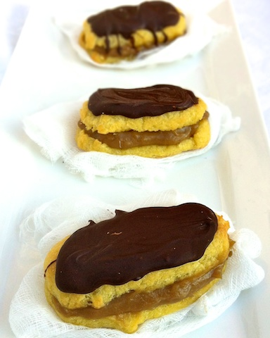 Peanut Butter Banana Chocolate Eclairs