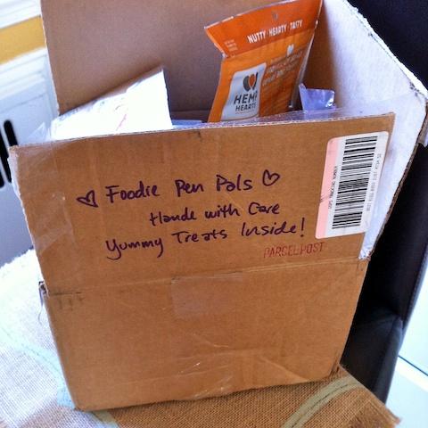 April Foodie Penpals box