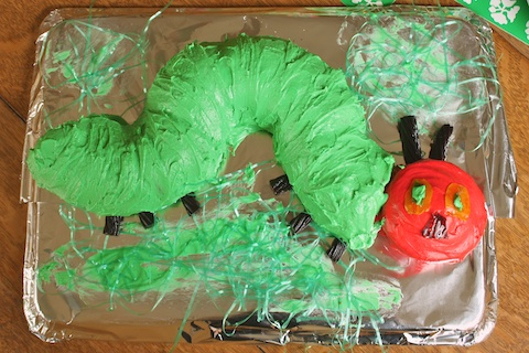 The Hungry Caterpillar Birthday Cake