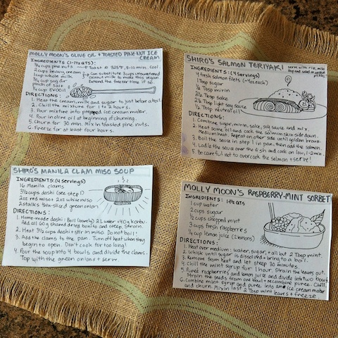 May Foodie Penpals recipes cards