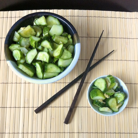 Sesame Ginger Pickled Cucumbers