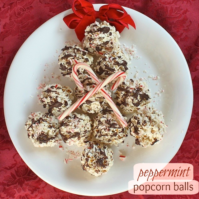 Peppermint Popcorn Balls pin   Teaspoonofspice.com