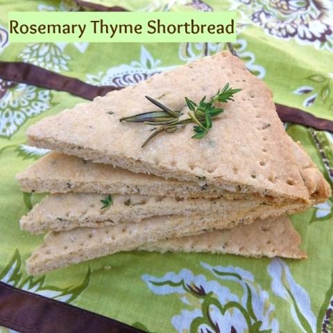 Rosemary Thyme Shortbread | Teaspoonfospice.com