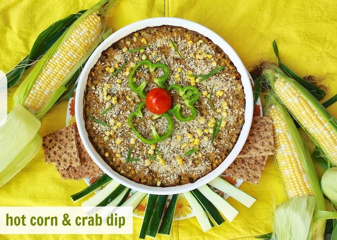 Hot Corn & Crab Dip   Teaspoonofspice.com