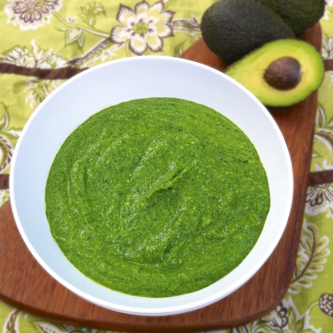 Spinach Avocado Alfredo Sauce | Teaspoonofspice.com