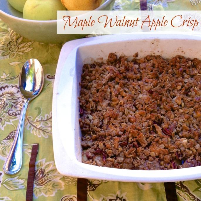 Maple Walnut Apple Crisp | Teaspoonofspice.com