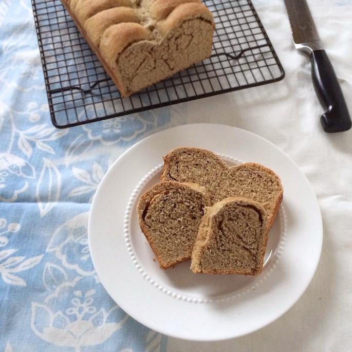 Whole Grain Cinnamon Roll Bread |Teaspoonofspice.com